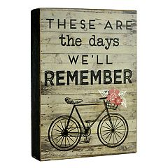 Belle Maison 'Days We'll Remember' Box Sign Art