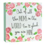 """Belle Maison """"Moms"""" Box Sign Art"""