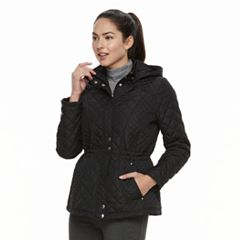 Women's Weathercast Hooded Quilted Anorak Jacket