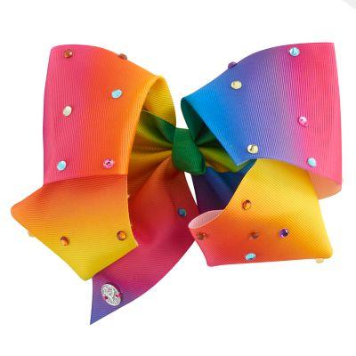 Girls 4-16 JoJo Siwa Tulle Rainbow Rhinestone Giant Bow