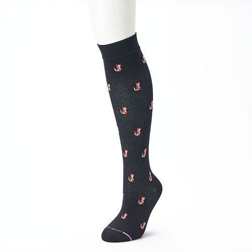e62b41b27 Women s Dr. Motion Knee-High Cat Print Compression Socks