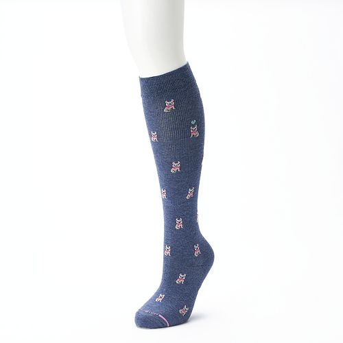 fb4a4ecfb Women s Dr. Motion Knee-High Dog Print Compression Socks