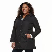Plus Size Weathercast Hooded Bonded Jacket