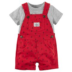 Baby Boy Carter's Tee & Shortalls Set