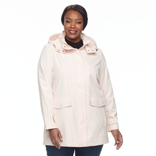 Plus Size Weathercast Hooded Topper Jacket