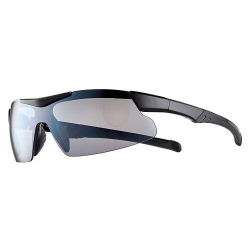 Men's Rubberized Sport-Shield Sunglasses
