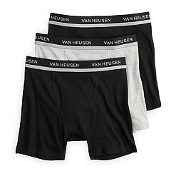 Men's Van Heusen 3-pack Solid and Striped Boxer Briefs
