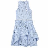 Girls 7-16 Speechless Sequin Lace High-Low Overlay Dress