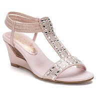New York Transit Fancy Jewels Women's Wedge Sandals