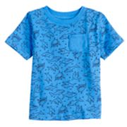 Baby Boy Jumping Beans® All Over Sharks Pocket Tee
