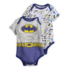 Baby Boy DC Comics Batman 2-Pack Bodysuit Set
