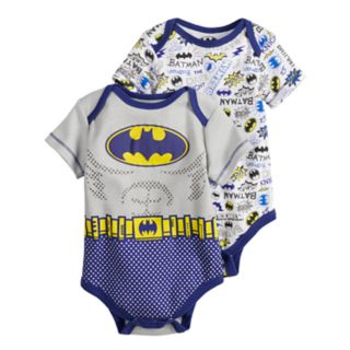 Baby Boy DC Comics Batman 2-Pack Bodysuit Set