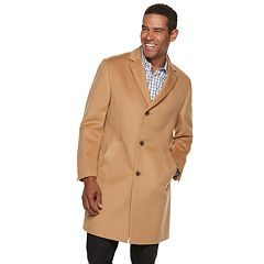 Men's Jean-Paul Germain Classic-Fit Sander 38-inch Wool-Blend Top Coat