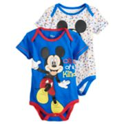 "Disney's Mickey Mouse Baby Boy 2-Pack ""One of a Kind"" Bodysuit Set"