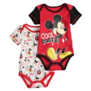 "Disney's Mickey Mouse Baby Boy ""Cool Dude"" Bodysuit Set"