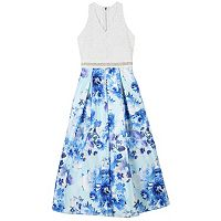 Girls 7-16 Speechless Floral Print Lace Maxi Dress