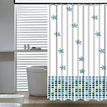 Elegant Home Fashions Seashore Shower Curtain