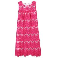 Girls 7-16 Speechless Wavy Lace Shift Dress