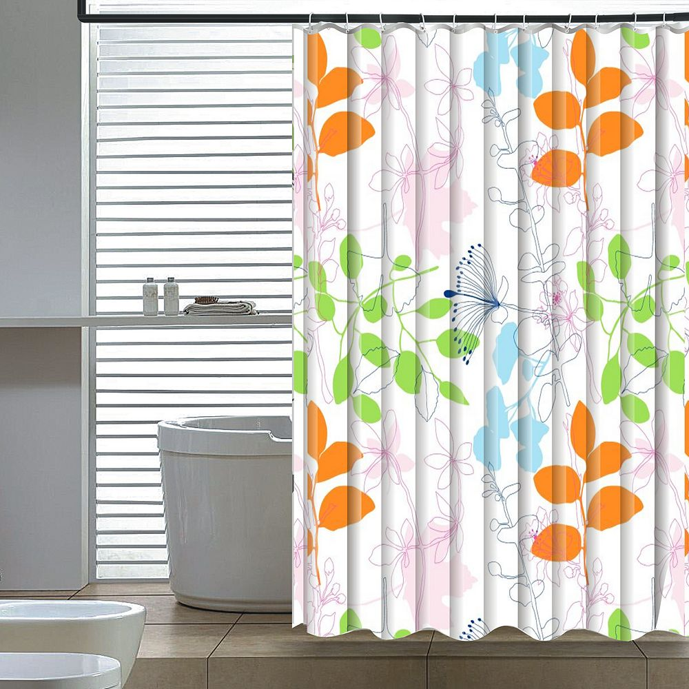 Elegant Home Fashions Floral Shower Curtain