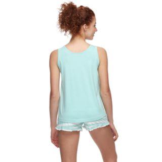 Juniors' Peace, Love & Fashion Tank & Boxer Shorts Pajama Set