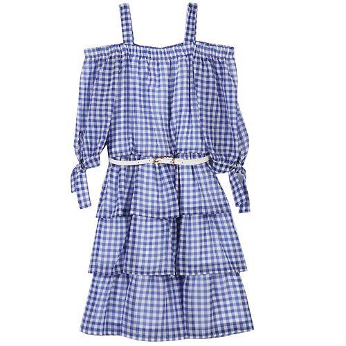 Girls 7-16 Speechless Gingham Belted Dress