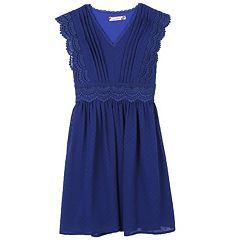 Girls 7-16 Speechless Crochet Trim Dress