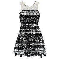 Girls 7-16 Mudd® Print Handkerchief-Hem Dress
