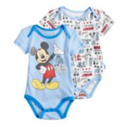 "Disney's Mickey Mouse Baby Boy ""The One and Only"" Bodysuit Set"
