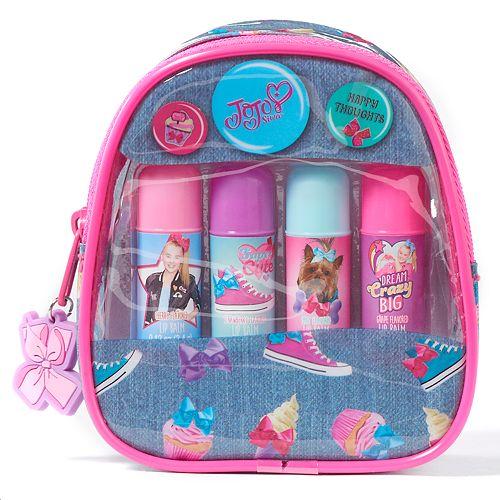 Girls 4-16 JoJo Siwa 4-pk. Lip Balms & Mini Backpack Carrying Case Set