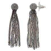 Simply Vera Vera Wang Tri Tone Tassel Chain Earrings