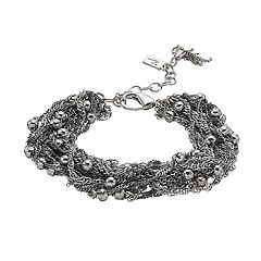 Simply Vera Vera Wang Bead & Chain Cluster Bracelet