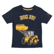 "Baby Boy John Deere ""Dig It!"" Bulldozer Graphic Tee"