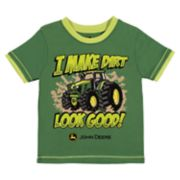 "Baby Boy John Deere ""I Make Dirt Look Good!"" Tractor Graphic Tee"