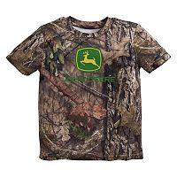 Baby Boy John Deere Camouflaged Logo Tee