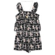 Girls 7-16 Speechless Daisy Popover Romper with Necklace