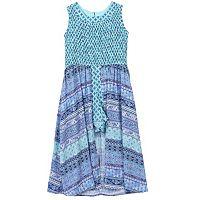 Girls 7-16 Speechless Smocked Patterned Walkthrough Dress