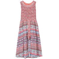 Girls 7-16 Speechless Smocked Patterned Walkthrough Dress