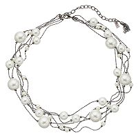 Simply Vera Vera Wang Simulated Pearl Multi Strand Necklace