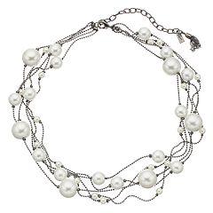 Simply Vera Vera Wang Simulated Pearl Multi Strand Necklace