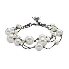 Simply Vera Vera Wang Simulated Pearl Bracelet