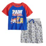 Baby Boy Paw Patrol Marshall, Chase & Rubble Raglan Top & Shorts Set