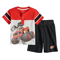 Baby Boy Blaze & The Monster Machines Henley & Shorts Set
