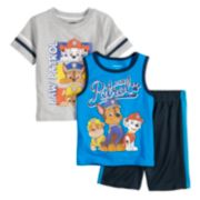 Baby Boy Paw Patrol 3 Piece Tee, Tank Top & Shorts Set