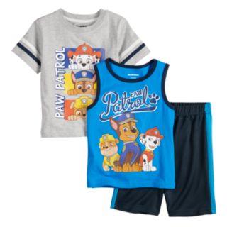 Baby Boy Paw Patrol 3 Piece Tee, Tank Top & Shorts Set