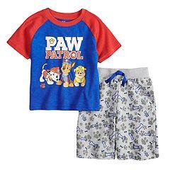 Toddler Boy Paw Patrol Marshall, Chase & Rubble Raglan Top & Shorts Set
