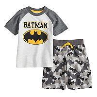 Toddler Boy DC Comics Batman Raglan Top & Shorts Set
