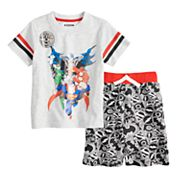 Toddler Boy Justice League Top & Shorts Set