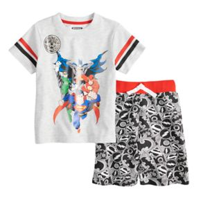 Toddler Boy Justice League Top & Shorts Set