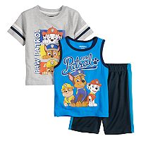 Toddler Boy Paw Patrol 3 Piece Tee, Tank Top & Shorts Set