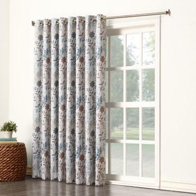 Sun Zero 1-Panel Ashbury Room Darkening Patio Curtain